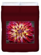 Lovely In Purple And Red - Dahlia Duvet Cover