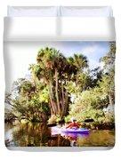 Lovely Kayaker Duvet Cover