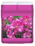 Lovely Lilies  Duvet Cover