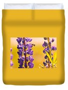 Lovely Lupins And Busy Bee Duvet Cover
