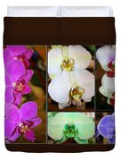 Lovely Orchids - A Collage Duvet Cover