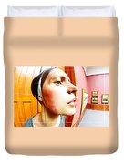 Lovely Profile Duvet Cover