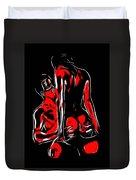 Lovers In Red Duvet Cover