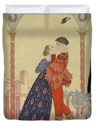 Lovers On A Balcony  Duvet Cover