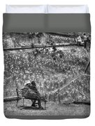 Lovers On Daffodil Hill Duvet Cover