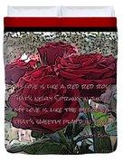 Lover's Roses Duvet Cover