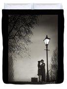 Lovers Say Goodbye Under A Streetlamp Duvet Cover