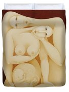 Lovers With Fetus 2006 Duvet Cover