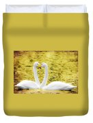 Loving Swans Duvet Cover by Tommytechno Sweden
