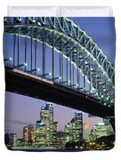 Low Angle View Of A Bridge, Sydney Duvet Cover