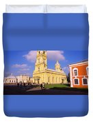 Low Angle View Of A Cathedral, Peter Duvet Cover