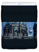 Low Angle View Of A Church, Berliner Duvet Cover