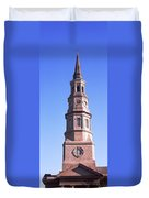 Low Angle View Of A Church, St. Philips Duvet Cover