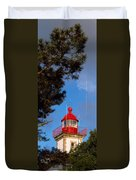 Low Angle View Of A Lighthouse, Morgat Duvet Cover