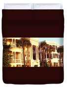 Low Angle View Of Historic Houses Duvet Cover
