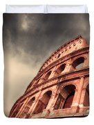 Low Angle View Of The Roman Colosseum Duvet Cover by Stefano Senise