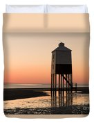 Low Lighthouse Sunset Duvet Cover