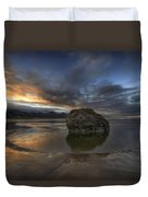 Low Tide At Cannon Beach Oregon Duvet Cover