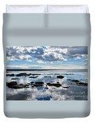 Low Tide At Lyme Regis 2 Duvet Cover