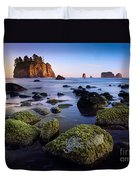 Low Tide At Second Beach Duvet Cover