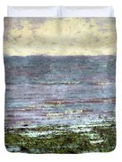 Low Tide At Sunrise Duvet Cover