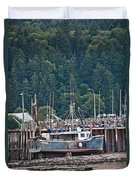 Low Tide Fishing Boat Duvet Cover
