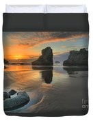 Low Tide Giants Duvet Cover by Adam Jewell