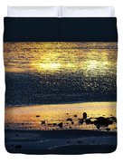 Low Tide Gold Duvet Cover