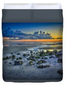 Low Tide On The Bay Duvet Cover by Marvin Spates