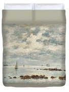 Low Tide Saint Vaast La Hougue Duvet Cover