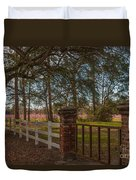 Lowcountry Gates To Boone Hall Plantation Duvet Cover