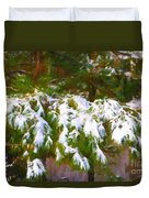 Lowcountry Snow Duvet Cover