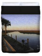 Lowcountry Winter Marsh Duvet Cover