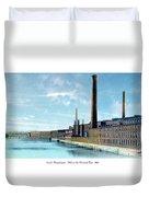 Lowell Massachusetts - Mills On The Merrimack River - 1910 Duvet Cover