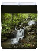 Lower Amicalola Falls Duvet Cover by Debra and Dave Vanderlaan