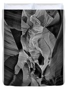 Lower Antelope Glow Black And White Duvet Cover