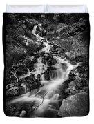 Lower Bridal Veil Falls 2 Bw Duvet Cover