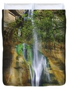 Lower Calf Creek Falls Escalante Grand Staircase National Monument Utah Duvet Cover