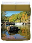 Lower Falls And Stream Duvet Cover
