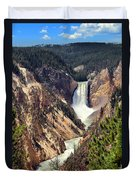 Lower Falls Of Yellowstone Duvet Cover