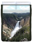 Lower Falls Yellowstone Duvet Cover