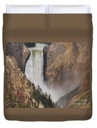 Lower Falls - Yellowstone Duvet Cover