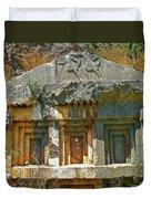 Lower-level Tomb In Myra-turkey Duvet Cover