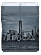 Lower Manhattan And The Freedom Tower Duvet Cover