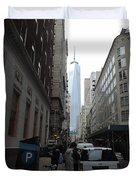 Lower Manhattan And The New World Trade Center Duvet Cover