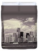Lower Manhattan Skyline 2 Duvet Cover