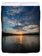 Lower Sunset Lake Duvet Cover
