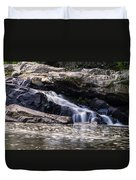 Lower Swallow Falls Stairsteps Duvet Cover