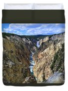 Lower Yellowstone Falls Panorama Duvet Cover