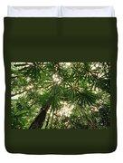 Lowland Tropical Rainforest Fan Palms Duvet Cover